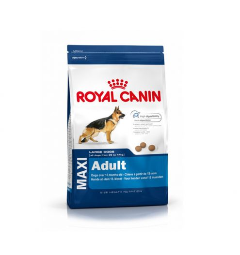 Maxi Adult 4kg royal canin dry dog foof for large breeds