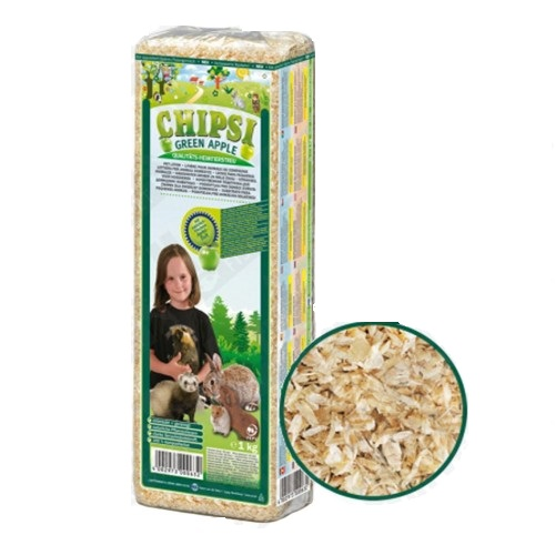CHIPSI Green Apple Pet Bedding 15L, Paws & Claws Pets