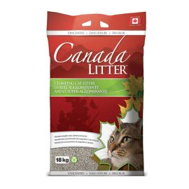 canada litter unscented clumping cat litter, small particle size and Super absorption of 350%