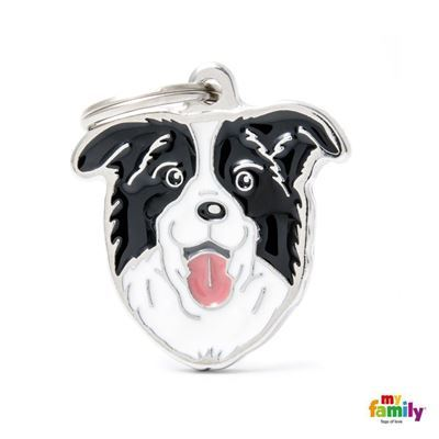 Border Collie Name Tag, Paws & Claws Pets