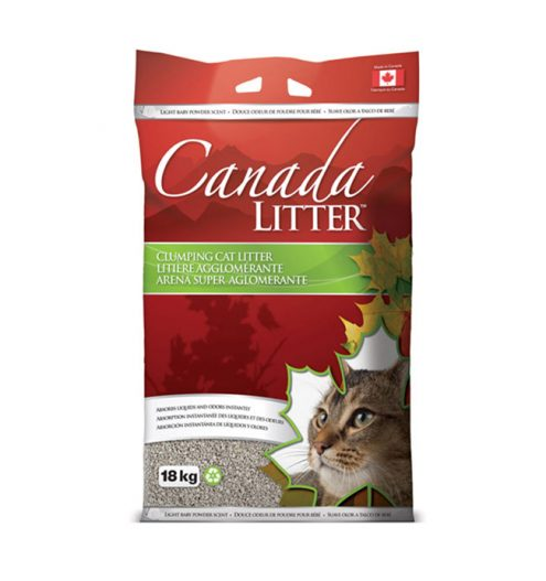 Canada Litter – Baby Powder Scent 6kg & 18kg, Paws & Claws Pets