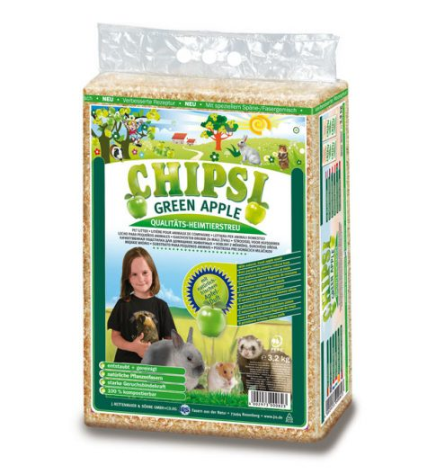 CHIPSI Green Apple Pet Bedding 60L, Paws & Claws Pets