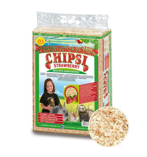 CHIPSI Strawberry Pet Bedding 60L, Paws & Claws Pets