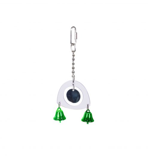 Bird Mirror with Bells, Paws & Claws Pets