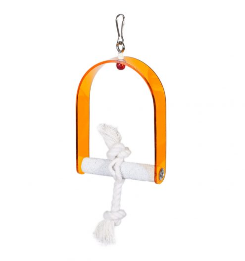 Bird Swing with Climbing Rope, Paws & Claws Pets