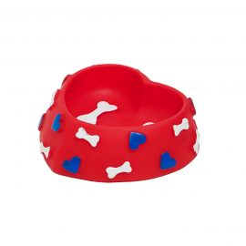 Heart & Bone dog toy bowl
