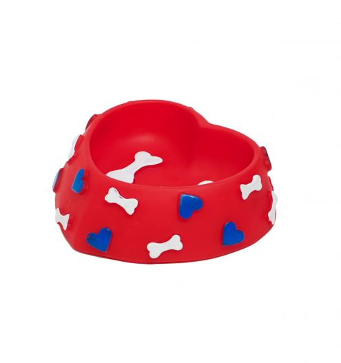 Heart & Bone Toy Dog Bowl, Paws & Claws Pets
