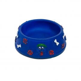 blue bowl dog toy