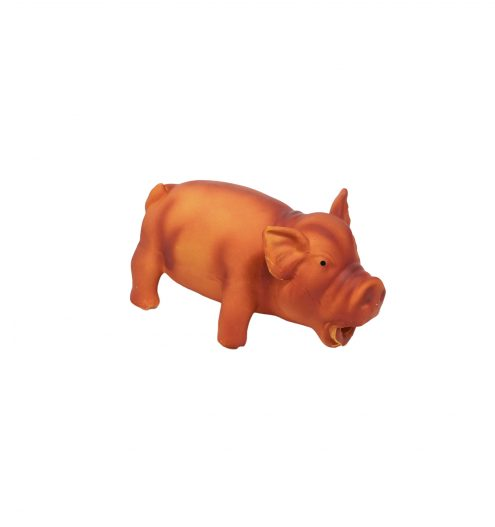 latex pig squeezy toy for dogs