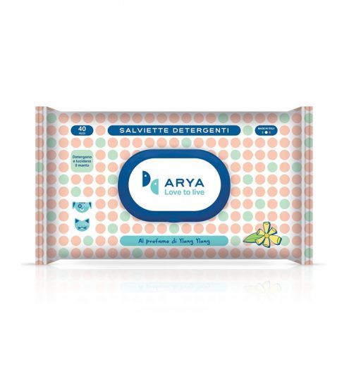 Arya Wet Wipes Ylang Ylang 40 Wipes, Paws & Claws Pets