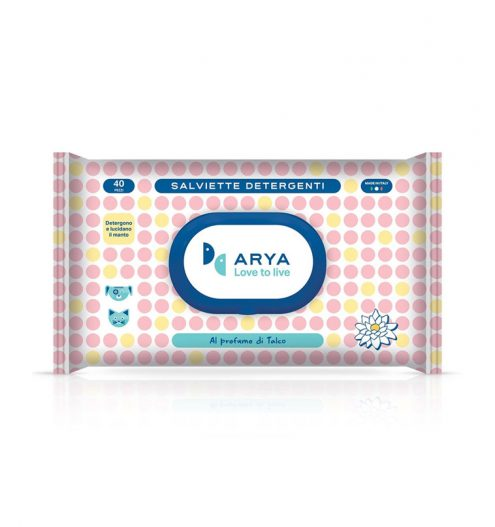 Arya Wet Wipes Talc 40 Wipes