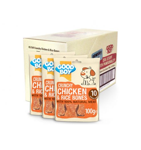 Good Boy Crunchy Chicken & Rice Bones 100g, Paws & Claws Pets