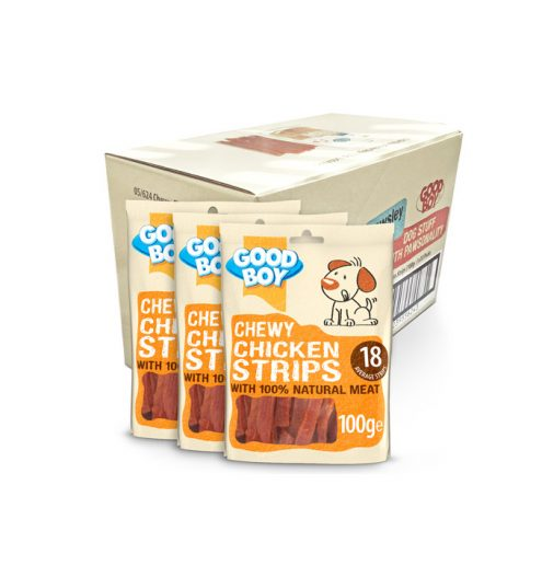 Good Boy Chewy Chicken Strips 100g, Paws & Claws Pets