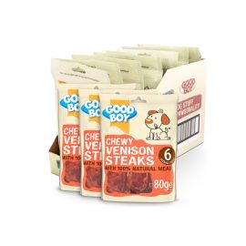 Good Boy Chewy Venison Steaks 80g