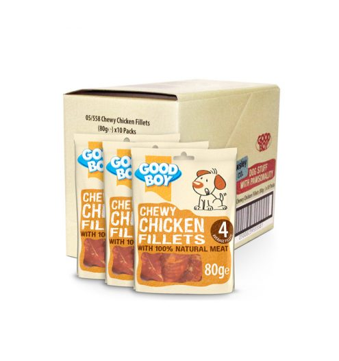 Good Boy Chewy Chicken Fillets 80g, Paws & Claws Pets