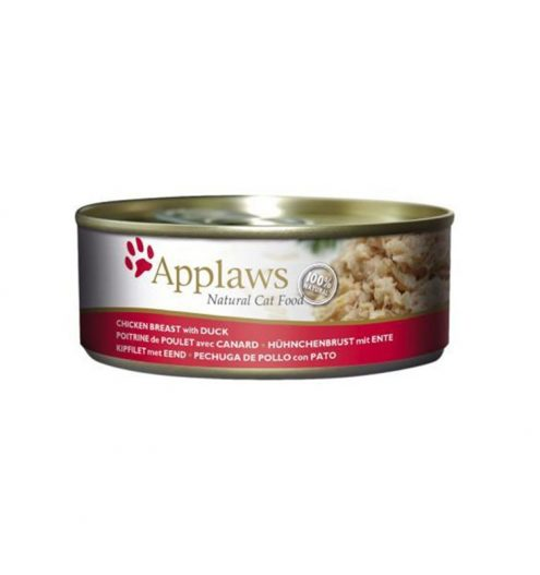 pplaws Cat Chicken with Duck in a tin is 100% natural and a complementary food for adult cats.