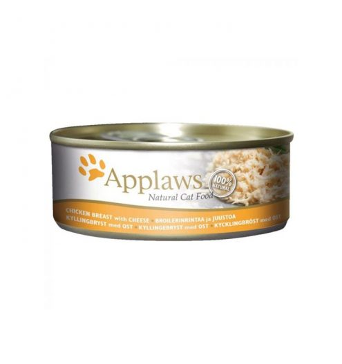 Applaws Cat Chicken with Cheese 156g Tin, Paws & Claws Pets