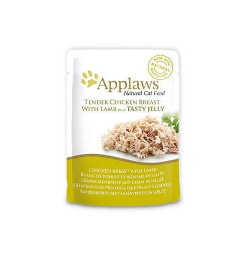 Applaws Cat Chicken with Lamb 70g Jelly Pouch at P&C pets