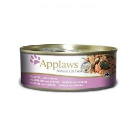 Mackerel with Sardine Our 70g mackerel with sardine cat tin is packed full of tasty mackerel and sardine your cat will find irresistible Applaws Cat is great for your pets nutrition Every time you open a tin of Applaws, you can instantly see what sets it apart
