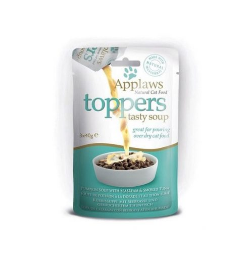 Applaws Cat Toppers Pumpkin Soup with Tuna 3x40g, Paws & Claws Pets