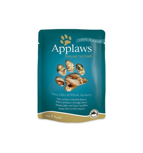 Applaws Cat Tuna with Anchovy 70g Pouch, Paws & Claws Pets