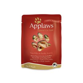 Applaws Cat Tuna with Prawn 70g Pouch are a convenient way to give your cat the highest quality meat protein