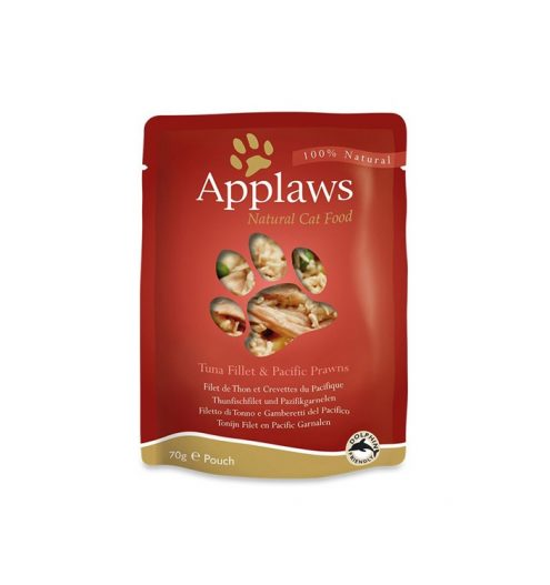 Applaws Cat Tuna with Prawn 70g Pouch, Paws & Claws Pets