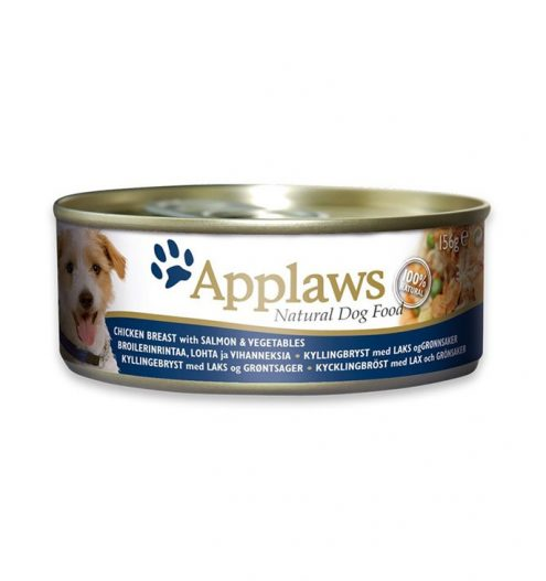 Applaws Dog Chicken Salmon 156g Tin, Paws & Claws Pets