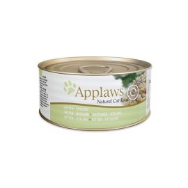 Applaws Chicken Kitten Tin is a premium complementary cat food specially formulated to help aid the physical development of kittens.
