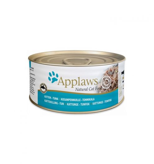 Applaws Tuna Kitten Tin is a premium complementary cat food specially formulated to help aid the physical and cognitive development of kittens.