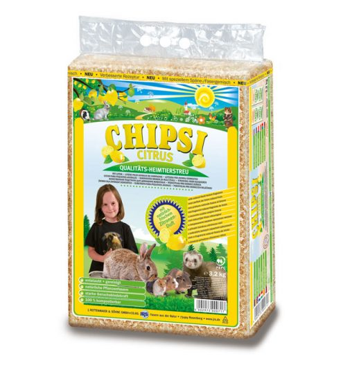 CHIPSI Citrus Pet Bedding 60L, Paws & Claws Pets