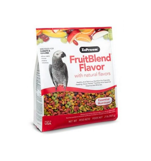 Zupreem Fruitblend Medium & Large Parrot food 2lb, Paws & Claws Pets