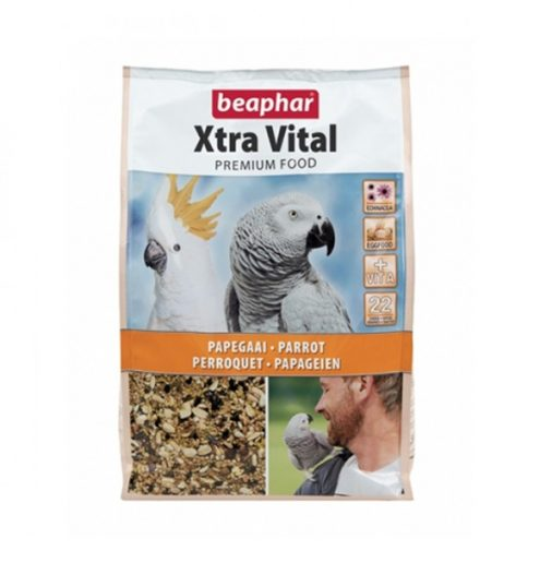 beaphar xtravital parrot food 2.5kg parrot food at paws n claws pet shop