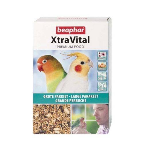 Beaphar Xtravital Large Parakeet Bird food 500g, Paws & Claws Pets