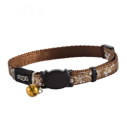 Rogz Silkcat Collar Break Away Safety Buckle, Paws & Claws Pets