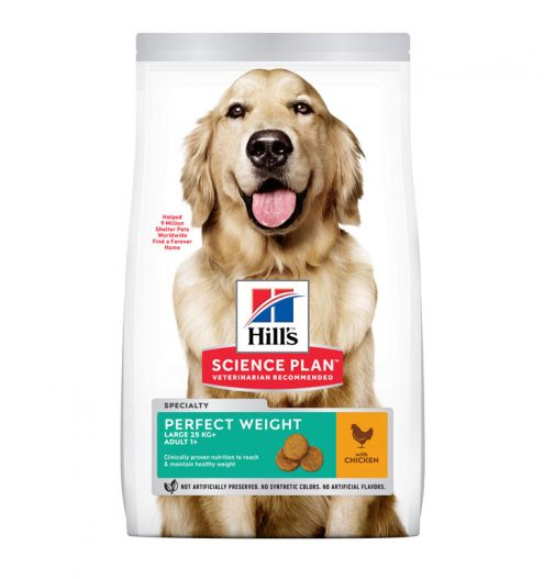Hill's Science Plan Perfect Weight Large Breed Adult Dog Food with Chicken 12Kg, Paws & Claws Pets