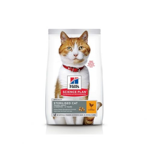 Hill's Science Plan Sterilised Young Adult Cat with Chicken, Paws & Claws Pets