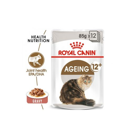 Ageing 12+ Wet Food in Gravy 12x85g, Paws & Claws Pets