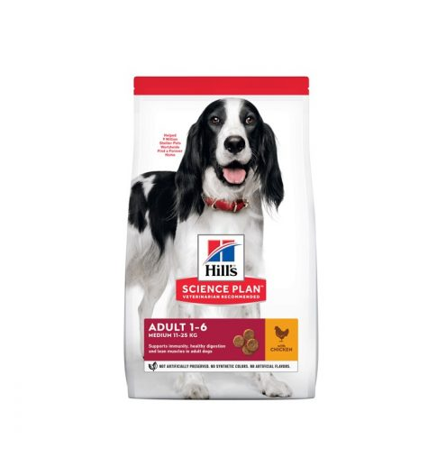 Hill's Science Plan Canine Adult Medium wth Chicken at Paws & Claws Pets