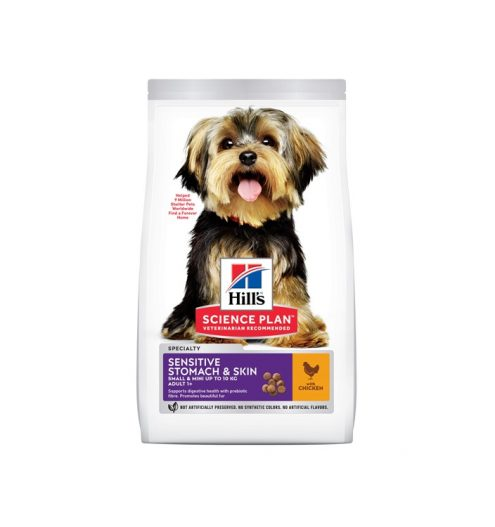 Hill's Adult Sensitive Stomach & Skin Small & Mini with Chicken, Paws & Claws Pets