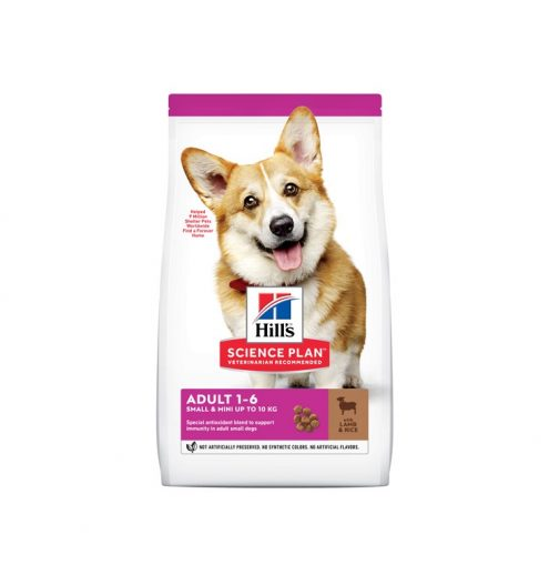 Hill's Adult Small & Mini with Lamb & Rice 1.5kg, Paws & Claws Pets