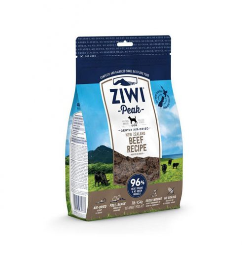 ZiwiPeak Beef Air Dried Dog Food in Paws claws pets