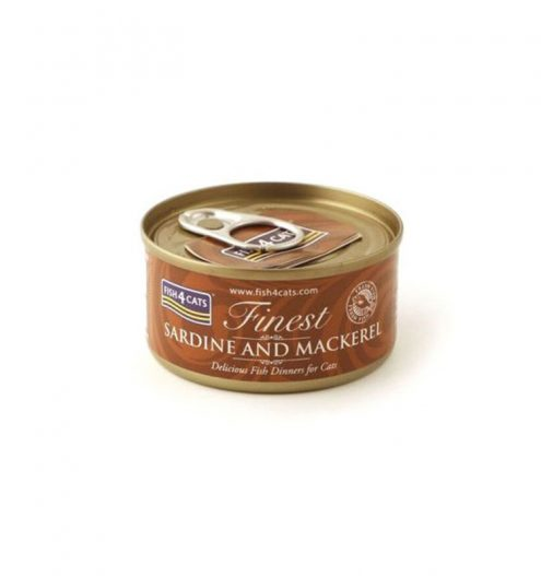 Fish4Cats Sardine with Mackerel Wet Food, Paws & Claws Pets