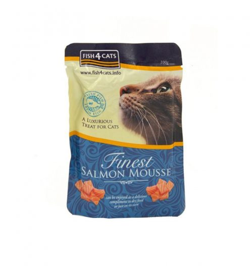 Made with Salmon and Seaweed, this light, airy mousse will be a gastronomic delight for your cat. Finest Salmon Mousse can be enjoyed as a compliment to dry food or just on its own