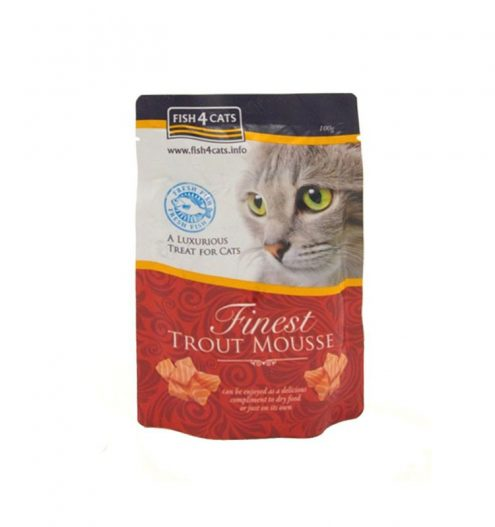 Fish4Cats Finest Trout Mousse for Cats, Paws & Claws Pets