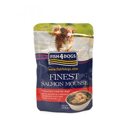 Fish4Dogs Finest Salmon Mousse for Dogs, Paws & Claws Pets