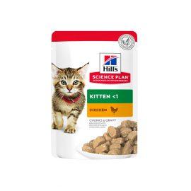 Hills Science Plan Tender Chunks in Gravy Kitten Chicken Pouches
