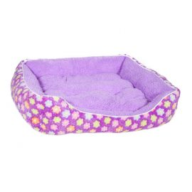 Fluffy Purple Floral Pet Bed suitable for cats as well as small to medium sized dogs