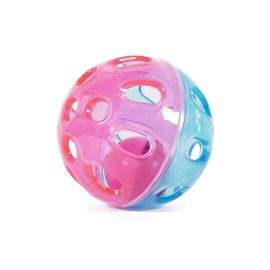 Cat Toy Rattle 'N' Roll Ball colourful plastic ball with a bell inside