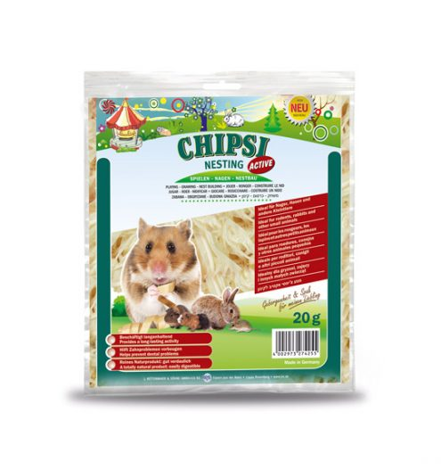 Chipsi Nesting Active 20g, Paws & Claws Pets